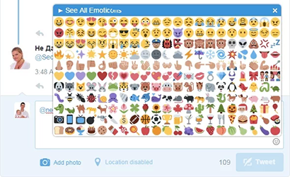 chrome extension with emoticons for twitter